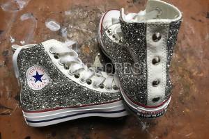 Converse glitter borchie